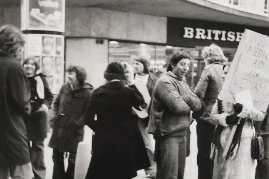 A demonstration for Medical aid to Vietnam 1973 organised by Bristol WUS