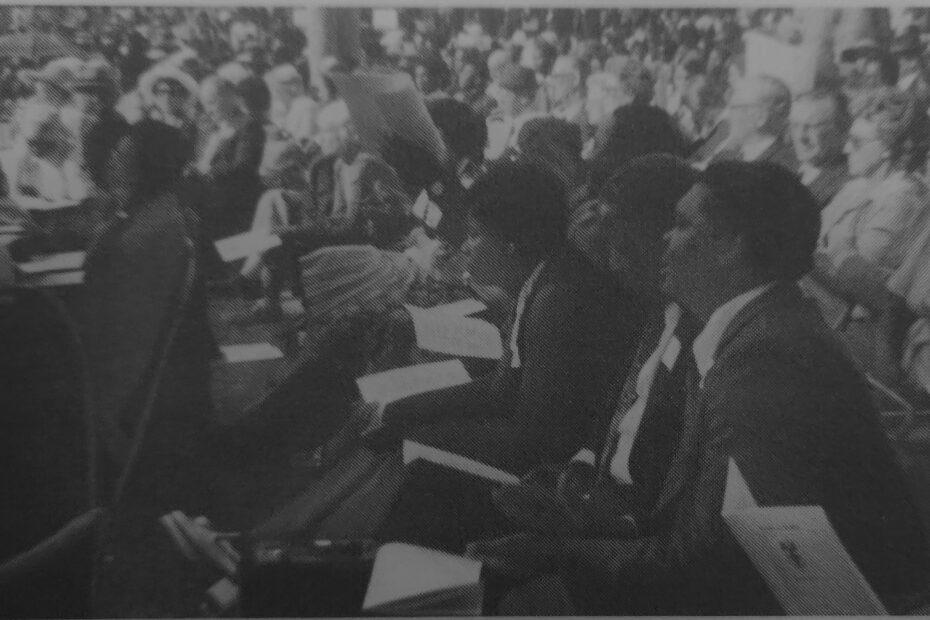 University of Rhodesia Graduation ceremony 1978 of many of the male and female black African students supported by WUS